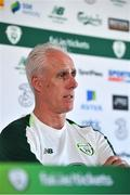 21 May 2019; Republic of Ireland manager Mick McCarthy speaking during a media update at The Campus, Quinta do Lago in Faro, Portugal.  Photo by Seb Daly/Sportsfile