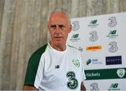 21 May 2019; Republic of Ireland manager Mick McCarthy arrives prior to a media update at The Campus, Quinta do Lago in Faro, Portugal.  Photo by Seb Daly/Sportsfile