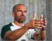 21 May 2019; Republic of Ireland fitness coach Andy Liddle speaking during a media update at The Campus, Quinta do Lago in Faro, Portugal.  Photo by Seb Daly/Sportsfile