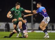 22 March 2019; Tom Farrell of Connacht is tackled by Irné Herbst and Tommaso Benvenuti of Benetton Rugby during the Guinness PRO14 Round 18 match between Connacht and Benetton Rugby at The Sportsground in Galway. Photo by Brendan Moran/Sportsfile