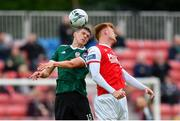 21 May 2019; Eoin Toal of Derry City in action against Gary Shaw of St Patrick's Athletic during the SSE Airtricity League Premier Division match between St Patrick's Athletic and Derry City at Richmond Park in Dublin. Photo by Ramsey Cardy/Sportsfile