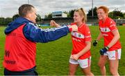 5 May 2019; Saoirse Noonan of Cork with Cork manager Ephie Fitzgerald after the Lidl Ladies National Football League Division 1 Final match between Cork and Galway at Parnell Park in Dublin. Photo by Brendan Moran/Sportsfile