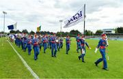5 May 2019; The Artane Band prior to the Lidl Ladies National Football League Division 2 Final match between Kerry and Waterford at Parnell Park in Dublin. Photo by Brendan Moran/Sportsfile