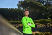 22 May 2019; Mark Travers poses for a portrait following a Republic of Ireland press conference at The Campus in Quinta do Lago, Faro, Portugal. Photo by Seb Daly/Sportsfile