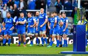 11 May 2019; The Heineken Champions Cup trophy waits to be presented as the defeated leinster team look on after the Heineken Champions Cup Final match between Leinster and Saracens at St James' Park in Newcastle Upon Tyne, England. Photo by Brendan Moran/Sportsfile