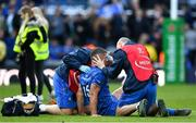 11 May 2019; Rob Kearney of Leinster is treated for an injury during the Heineken Champions Cup Final match between Leinster and Saracens at St James' Park in Newcastle Upon Tyne, England. Photo by Brendan Moran/Sportsfile