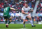 4 May 2019; Ross Kane of Ulster is tackled by Caolin Blade of Connacht during the Guinness PRO14 quarter-final match between Ulster and Connacht at Kingspan Stadium in Belfast. Photo by Brendan Moran/Sportsfile