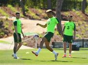 22 May 2019; Callum Robinson, centre, with Alan Browne, left, and Sean Maguire during a Republic of Ireland training session at The Campus in Quinta do Lago, Faro, Portugal. Photo by Seb Daly/Sportsfile