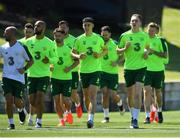 22 May 2019; Ronan Curtis, right, and Callum O'Dowda, centre, during a Republic of Ireland training session at The Campus in Quinta do Lago, Faro, Portugal. Photo by Seb Daly/Sportsfile