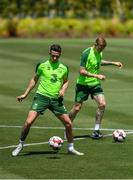 22 May 2019; Alan Browne, left, and James McClean during a Republic of Ireland training session at The Campus in Quinta do Lago, Faro, Portugal. Photo by Seb Daly/Sportsfile