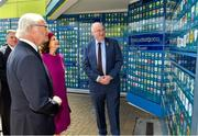 22 May 2019; Queen Silvia and King Carl XVI Gustaf of Sweden are shown GAA club crests by Uachtaráin Cumann Lúthchleas Gael John Horan during a visit to Croke Park GAA Stadium in Dublin. Photo by Brendan Moran/Sportsfile