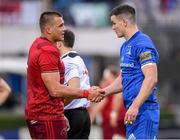 18 May 2019; CJ Stander of Munster and Jonathan Sexton of Leinster shake hands following during the Guinness PRO14 semi-final match between Leinster and Munster at the RDS Arena in Dublin. Photo by Harry Murphy/Sportsfile
