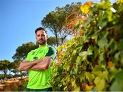 23 May 2019; Greg Cunningham poses for a portrait following a Republic of Ireland press conference at The Campus in Quinta do Lago, Faro, Portugal. Photo by Seb Daly/Sportsfile