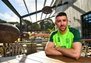 23 May 2019; Enda Stevens poses for a portrait following a Republic of Ireland press conference at The Campus in Quinta do Lago, Faro, Portugal. Photo by Seb Daly/Sportsfile