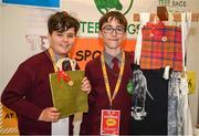 20 May 2019; Dara Murray, left, and Conor Costello, from Scoil Iosaif Naofa, Oranmore, Co.Galway, at the JEP National Showcase Day which took place in RDS Simmonscourt, Ballsbridge, Dublin. Photo by Ray McManus/Sportsfile