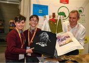 20 May 2019; Dara Murray, left, and Conor Costello, from Scoil Iosaif Naofa, Oranmore, Co Galway, with JEP Co-Founder Jerry Kennelly at the JEP National Showcase Day which took place in RDS Simmonscourt, Ballsbridge, Dublin. Photo by Ray McManus/Sportsfile