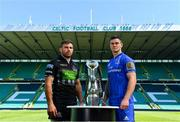 24 May 2019; Glasgow Warriors captain Callum Gibbons and Leinster captain Jonathan Sexton during a photocall ahead of the Guinness PRO14 Final at Celtic Park in Glasgow, Scotland. Photo by Ramsey Cardy/Sportsfile