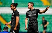 24 May 2019; James Lowe, left, and Rory O'Loughlin during the Leinster captain's run at Celtic Park in Glasgow, Scotland. Photo by Ramsey Cardy/Sportsfile