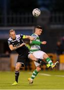 24 May 2019; Trevor Clarke of Shamrock Rovers in action against Karl Sheppard of Cork City during the SSE Airtricity League Premier Division match between Shamrock Rovers and Cork City at Tallaght Stadium in Dublin. Photo by Stephen McCarthy/Sportsfile