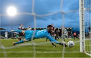 24 May 2019; Cork City goalkeeper Mark McNulty makes a save during the SSE Airtricity League Premier Division match between Shamrock Rovers and Cork City at Tallaght Stadium in Dublin. Photo by Stephen McCarthy/Sportsfile