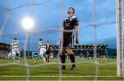 24 May 2019; Conor McCarthy of Cork City reacts after his side conceeded their first goal during the SSE Airtricity League Premier Division match between Shamrock Rovers and Cork City at Tallaght Stadium in Dublin. Photo by Stephen McCarthy/Sportsfile