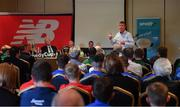 24 May 2019; Republic of Ireland U21 manager Stephen Kenny speaking at the launch of the 2019 SFAI New Balance Kennedy Cup in Castletroy Hotel, Limerick. The SFAI New Balance Kennedy Cup takes place in UL from 11-15 June. Photo by Piaras Ó Mídheach/Sportsfile