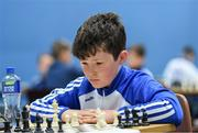 25 May 2019; Thomas Sheridan, from Erne Valley, Co Cavan, competing in the U13 Chess event during Day 1 of the Aldi Community Games May Festival, which saw over 3,500 children take part in a fun-filled weekend at University of Limerick. Photo by Piaras Ó Mídheach/Sportsfile