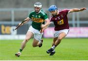 25 May 2019; Jack Goulding of Kerry in action against Gary Greville of Westmeath during the Joe McDonagh Cup Round 3 match between Westmeath and Kerry at Cusack Park in Mullingar, Westmeath. Photo by Danny Boyce/Sportsfile