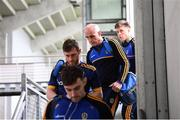 25 May 2019; Roscommon manager Anthony Cunningham and players arrive prior to the Connacht GAA Football Senior Championship Semi-Final match between Mayo and Roscommon at Elverys MacHale Park in Castlebar, Mayo. Photo by Stephen McCarthy/Sportsfile