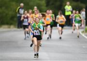 25 May 2019; Kerry Eagar from Beaufort, Co. Kerry, competing in the Girls Marathon 7km Under 16 & Over 14 event during Day 1 of the Aldi Community Games May Festival, which saw over 3,500 children take part in a fun-filled weekend at the University of Limerick. Photo by Harry Murphy/Sportsfile