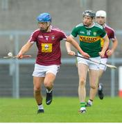 25 May 2019; Gary Greville of Westmeath in action against Colum Harty of Kerry during the Joe McDonagh Cup Round 3 match between Westmeath and Kerry at Cusack Park in Mullingar, Westmeath. Photo by Danny Boyce/Sportsfile