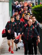 25 May 2019; Mayo players, including Lee Keegan, second from left, arrive prior to the Connacht GAA Football Senior Championship Semi-Final match between Mayo and Roscommon at Elverys MacHale Park in Castlebar, Mayo. Photo by Stephen McCarthy/Sportsfile