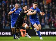 25 May 2019; Garry Ringrose of Leinster is tackled by Adam Hastings of Glasgow Warriors during the Guinness PRO14 Final match between Leinster and Glasgow Warriors at Celtic Park in Glasgow, Scotland. Photo by Brendan Moran/Sportsfile