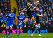 25 May 2019; DTH van der Merwe of Glasgow Warriors in action against Jordan Larmour of Leinster during the Guinness PRO14 Final match between Leinster and Glasgow Warriors at Celtic Park in Glasgow, Scotland. Photo by Ramsey Cardy/Sportsfile