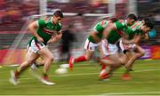 25 May 2019; Lee Keegan of Mayo warms up prior to the Connacht GAA Football Senior Championship Semi-Final match between Mayo and Roscommon at Elverys MacHale Park in Castlebar, Mayo. Photo by Stephen McCarthy/Sportsfile