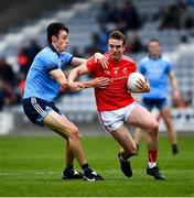 25 May 2019; Bevan Duffy of Louth in action against Darren Gavin of Dublin during the Leinster GAA Football Senior Championship Quarter-Final match between Louth and Dublin at O'Moore Park in Portlaoise, Laois. Photo by Ray McManus/Sportsfile
