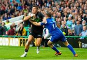 25 May 2019; DTH Van Der Merwe of Glasgow Warriors is tackled by Jordan Larmour of Leinster during the Guinness PRO14 Final match between Leinster and Glasgow Warriors at Celtic Park in Glasgow, Scotland. Photo by Ross Parker/Sportsfile