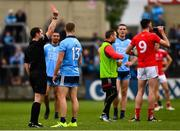 25 May 2019; Paul Mannion of Dublin is issued with a red by referee Jerome Henry in the 25th minute of the Leinster GAA Football Senior Championship Quarter-Final match between Louth and Dublin at O'Moore Park in Portlaoise, Laois. Photo by Ray McManus/Sportsfile