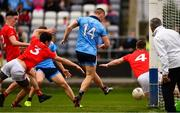 25 May 2019; Con O'Callaghan of Dublin, 14, scores his side's first goal during the Leinster GAA Football Senior Championship Quarter-Final match between Louth and Dublin at O'Moore Park in Portlaoise, Laois. Photo by Ray McManus/Sportsfile