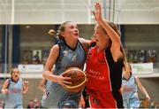 25 May 2019; Laoise Quinn from Oranmore, Co. Galway and Mollie O'Mahony from Castleisland, Co. Kerry, competing in the Basketball Under 13 and Over 10 Girls  event during Day 1 of the Aldi Community Games May Festival, which saw over 3,500 children take part in a fun-filled weekend at the University of Limerick. Photo by Harry Murphy/Sportsfile