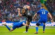 25 May 2019; Kyle Steyn of Glasgow Warriors is tackled by Garry Ringrose of Leinster during the Guinness PRO14 Final match between Leinster and Glasgow Warriors at Celtic Park in Glasgow, Scotland. Photo by Ross Parker/Sportsfile