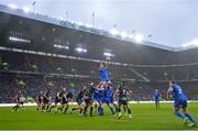 25 May 2019; Jack Conan of Leinster wins possession of a lineout during the Guinness PRO14 Final match between Leinster and Glasgow Warriors at Celtic Park in Glasgow, Scotland. Photo by Ramsey Cardy/Sportsfile