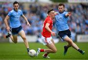 25 May 2019; Andy McDonnell of Louth in action against Jack McCaffrey of Dublin during the Leinster GAA Football Senior Championship Quarter-Final match between Louth and Dublin at O'Moore Park in Portlaoise, Laois. Photo by Eóin Noonan/Sportsfile