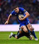 25 May 2019; Garry Ringrose of Leinster is tackled by Pete Horne of Glasgow Warriors during the Guinness PRO14 Final match between Leinster and Glasgow Warriors at Celtic Park in Glasgow, Scotland. Photo by Ramsey Cardy/Sportsfile