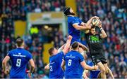 25 May 2019; Tommy Seymour of Glasgow Warriors snatches the ball away from Scott Fardy of Leinster in a lineout during the Guinness PRO14 Final match between Leinster and Glasgow Warriors at Celtic Park in Glasgow, Scotland. Photo by Ross Parker/Sportsfile