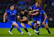 25 May 2019; Adam Hastings of Glasgow Warriors is tackled by Rhys Ruddock of Leinster during the Guinness PRO14 Final match between Leinster and Glasgow Warriors at Celtic Park in Glasgow, Scotland. Photo by Ramsey Cardy/Sportsfile