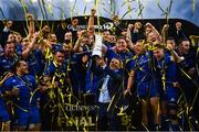25 May 2019; The Leinster team celebrate with the cup after the Guinness PRO14 Final match between Leinster and Glasgow Warriors at Celtic Park in Glasgow, Scotland. Photo by Ramsey Cardy/Sportsfile