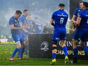 25 May 2019; Jonathan Sexton and Luke McGrath of Leinster celebrate after the Guinness PRO14 Final match between Leinster and Glasgow Warriors at Celtic Park in Glasgow, Scotland. Photo by Ramsey Cardy/Sportsfile