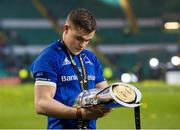 25 May 2019;  Garry Ringrose of Leinster with the cup after the Guinness PRO14 Final match between Leinster and Glasgow Warriors at Celtic Park in Glasgow, Scotland. Photo by Ross Parker/Sportsfile