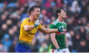 25 May 2019; Tadgh O'Rourke of Roscommon celebrates following the Connacht GAA Football Senior Championship Semi-Final match between Mayo and Roscommon at Elverys MacHale Park in Castlebar, Mayo. Photo by Stephen McCarthy/Sportsfile